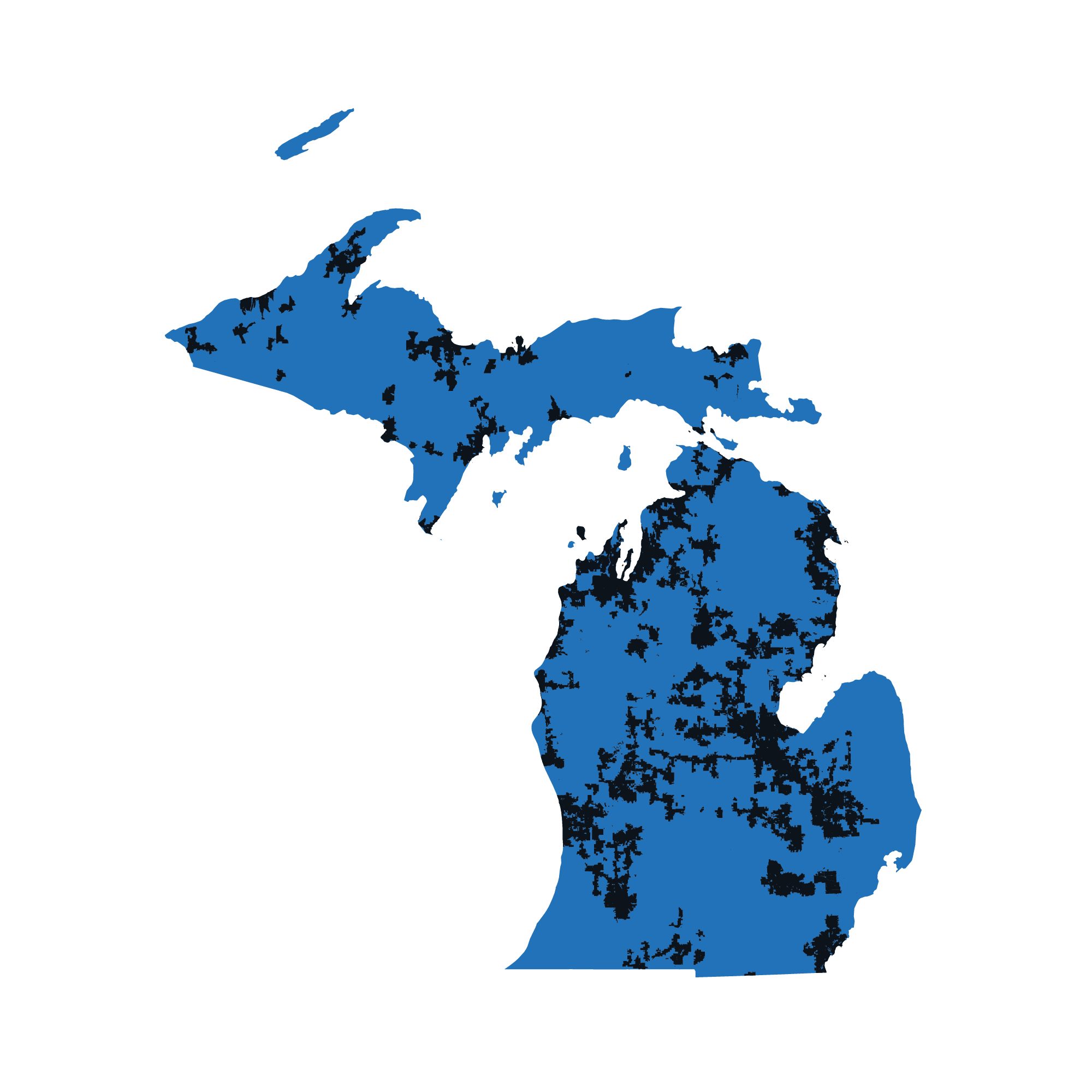 Michigan map data image