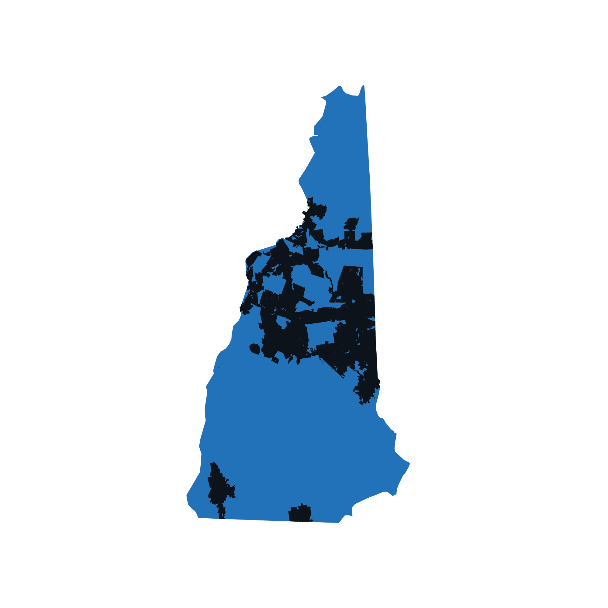 New Hampshire map data image