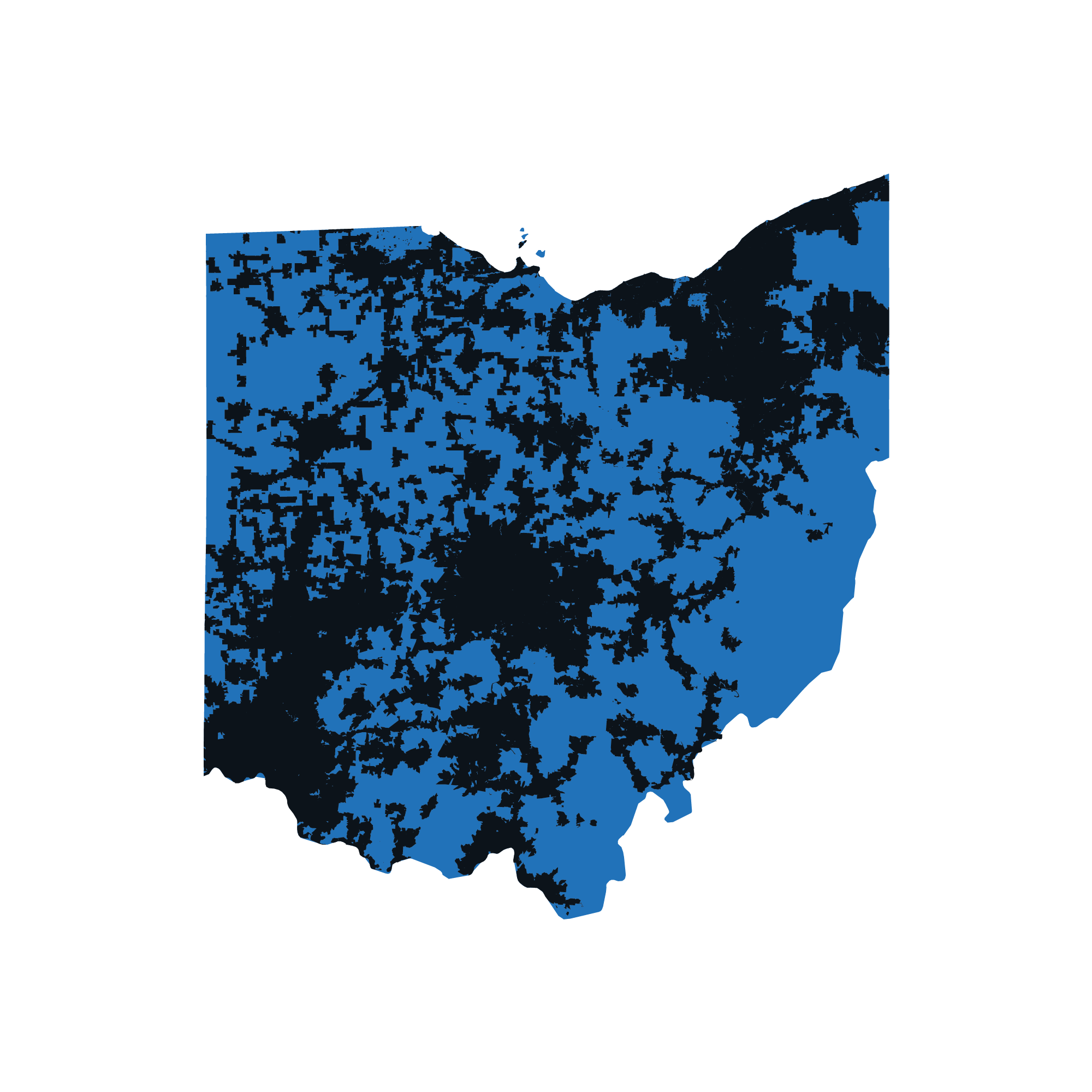 Ohio map data image