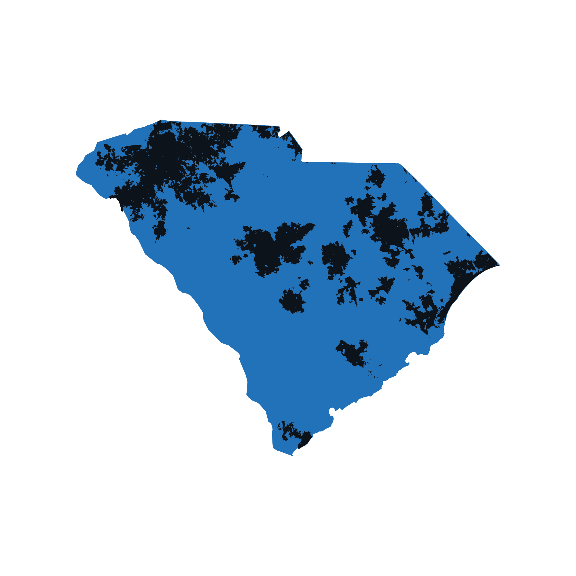 South Carolina map data image