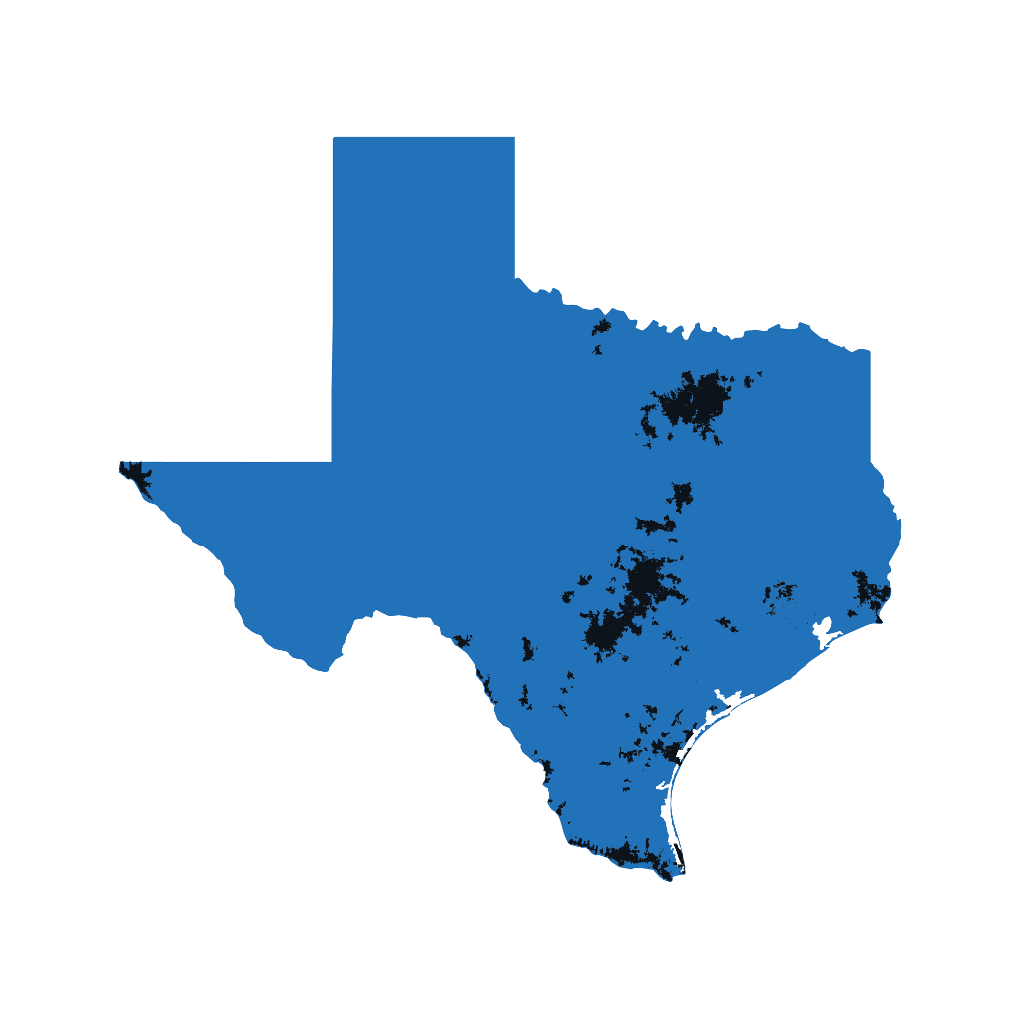 Texas map data image