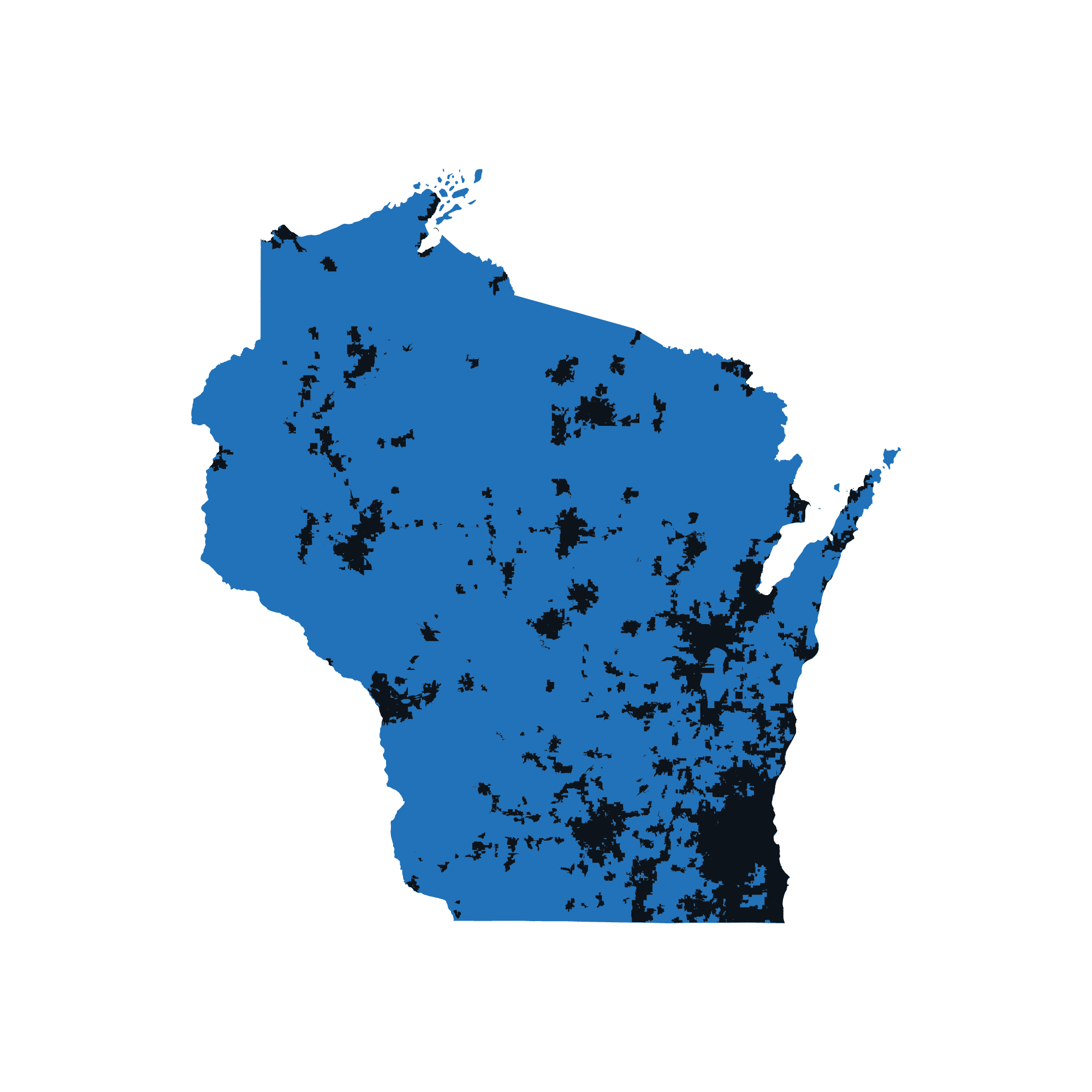 Wisconsin map data image